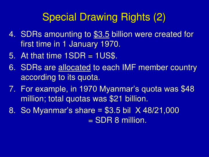 Special Drawing Rights (2)