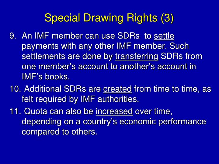 Special Drawing Rights (3)