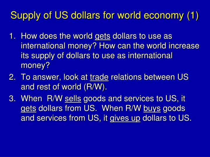 Supply of US dollars for world economy (1)
