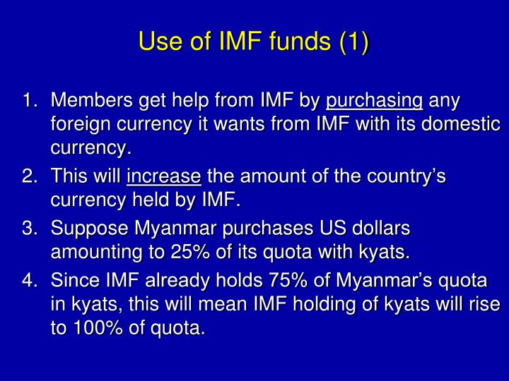 Use of IMF funds (1)