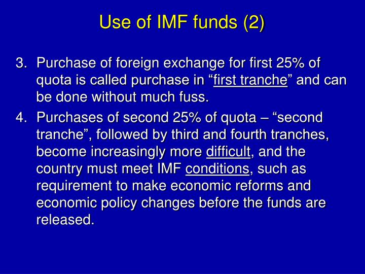 Use of IMF funds (2)