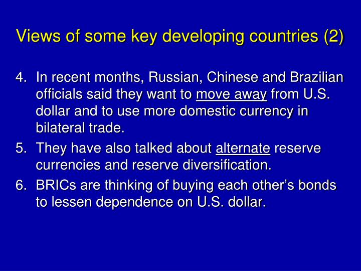 Views of some key developing countries (2)