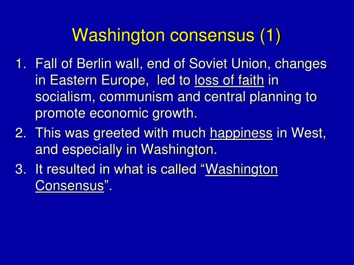 Washington consensus (1)