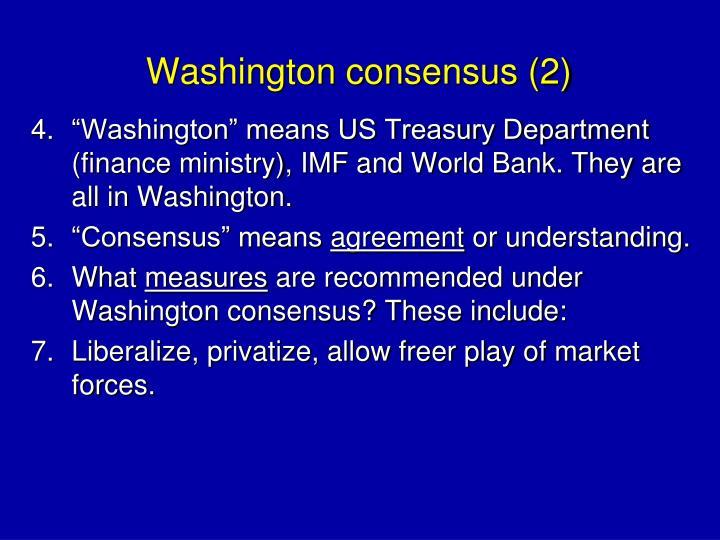 Washington consensus (2)
