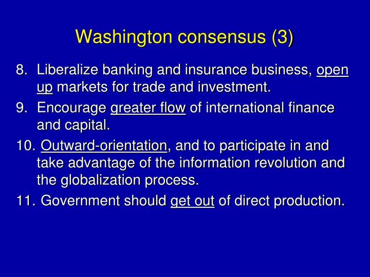 Washington consensus (3)