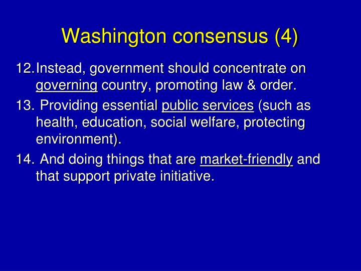 Washington consensus (4)