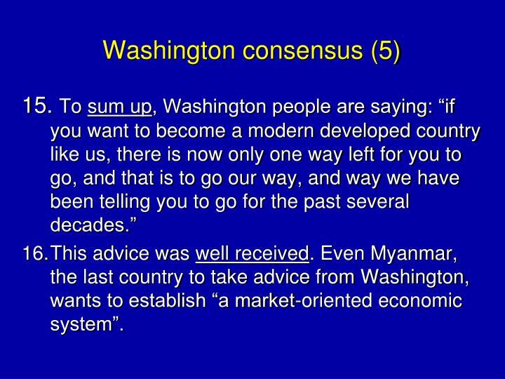 Washington consensus (5)