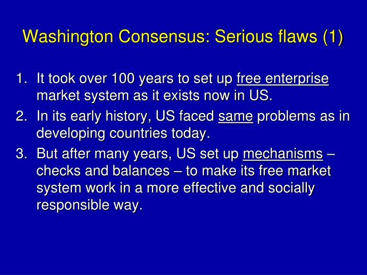 Washington Consensus: Serious flaws (1)
