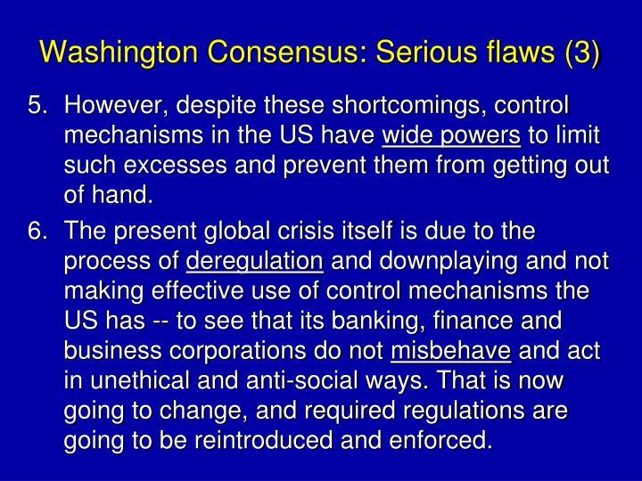 Washington Consensus: Serious flaws (3)