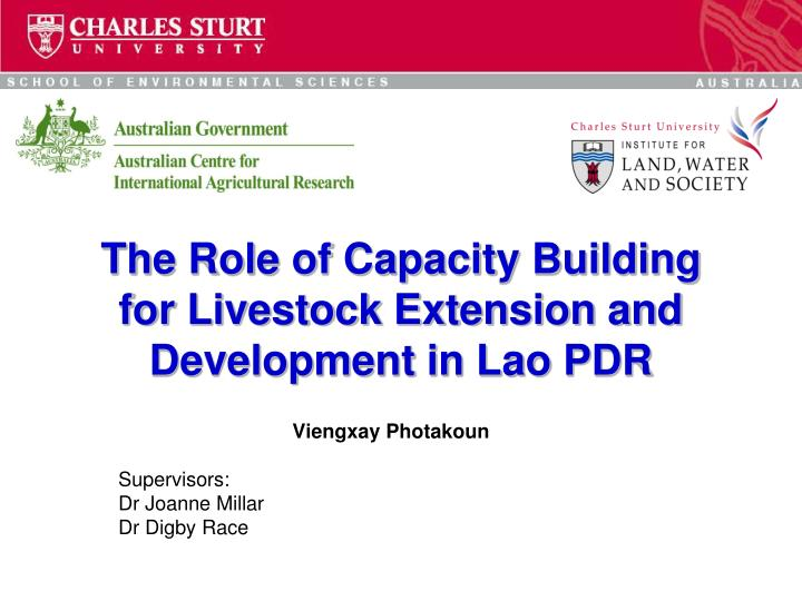 the role of capacity building for livestock extension and development in lao pdr n.