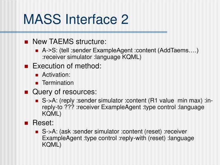 MASS Interface 2