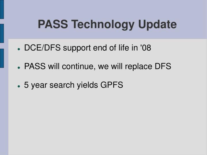 pass technology update n.