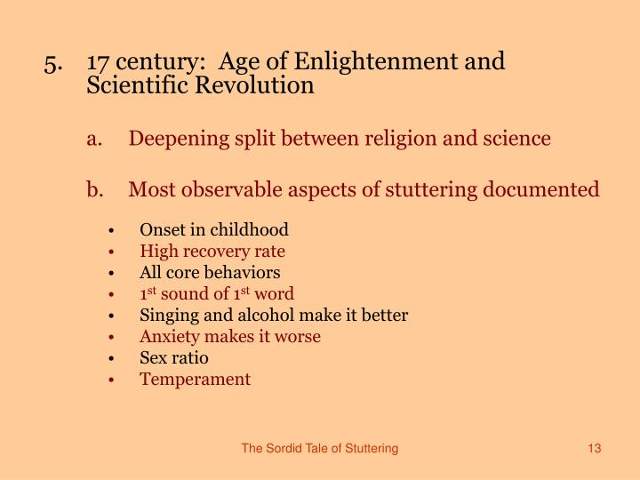age of enlightenment and century Newby, gregg brief explanation of the leading ideas of the 18th century age of enlightenment accessed april 30.