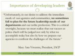 importance of developing leaders