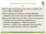 unconscious competency