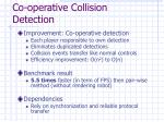 co operative collision detection
