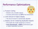 performance optimizations