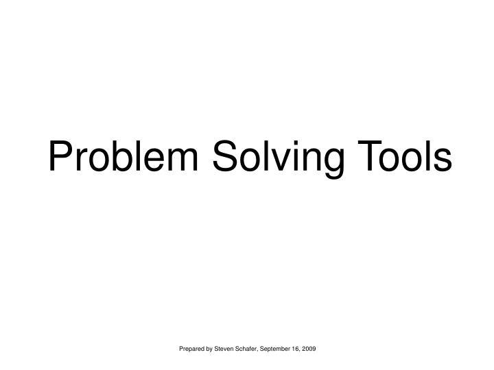 problem solving tools n.