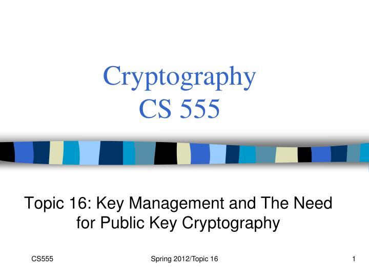 cryptography cs 555 n.
