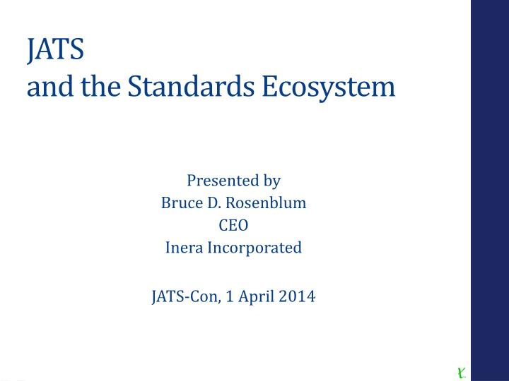 jats and the standards ecosystem n.