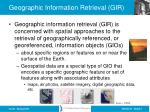 geographic information retrieval gir
