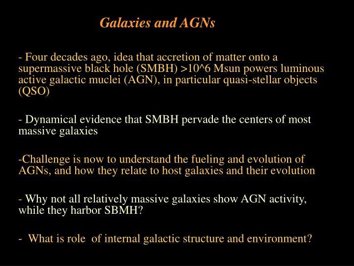 galaxies and agns n.