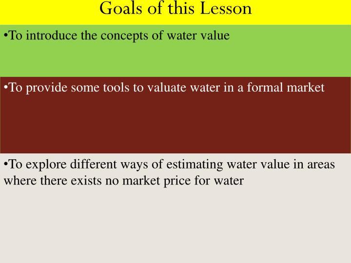 Goals of this lesson