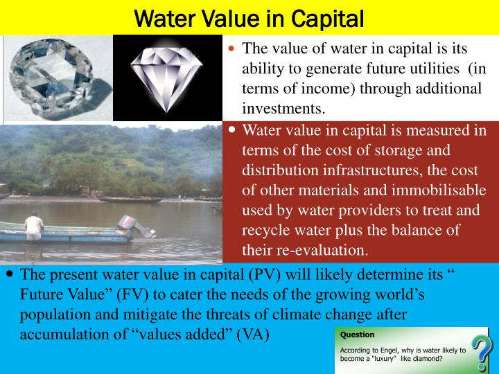 Water Value in Capital