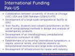 international funding pak us