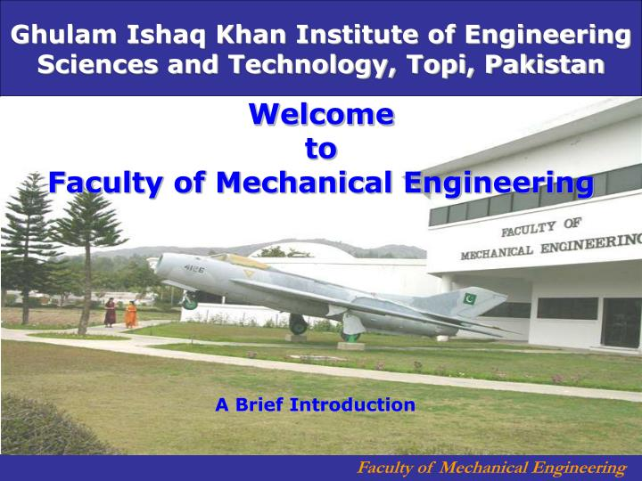 welcome to faculty of mechanical engineering n.