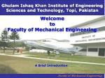 welcome to faculty of mechanical engineering