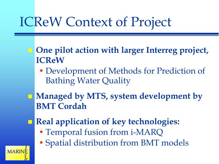 ICReW Context of Project
