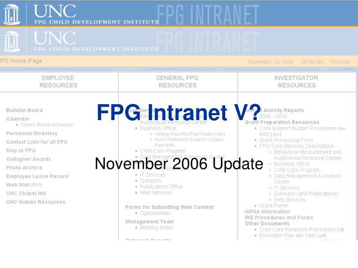 fpg intranet v n.