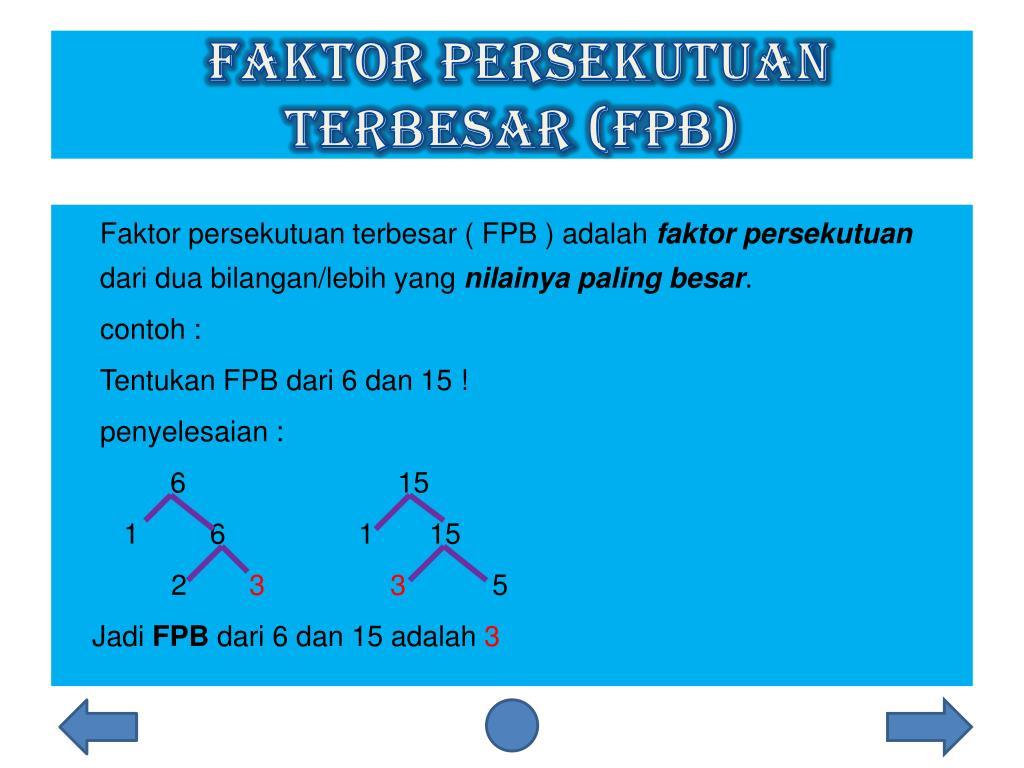 PPT - WROKSHOP MATEMATIKA Kpk dan fpb PowerPoint ...