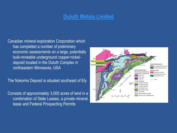 Duluth Metals Limited
