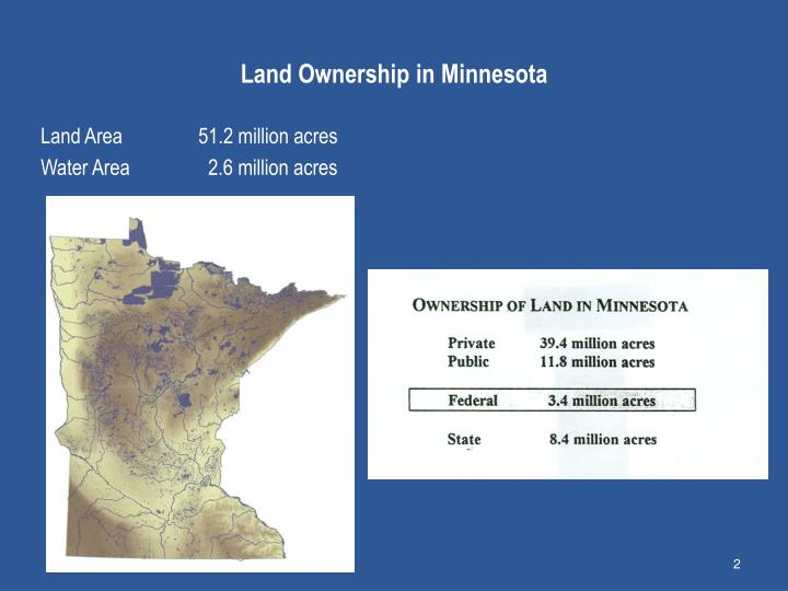 Land ownership in minnesota