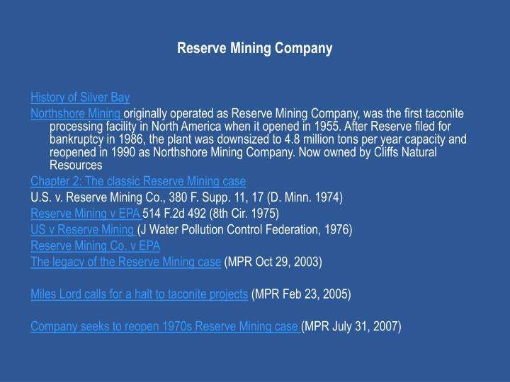 Reserve Mining Company