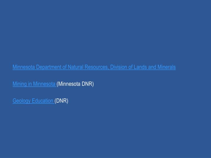 Minnesota Department of Natural Resources, Division of Lands and Minerals