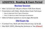 logistics reading exam period1