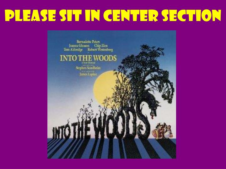 please sit in center section n.