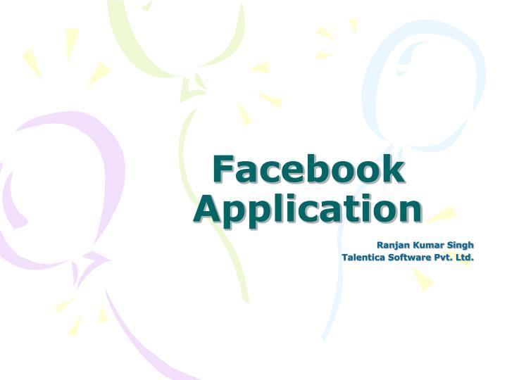 facebook application n.