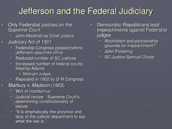 Only Federalist justices on the Supreme Court