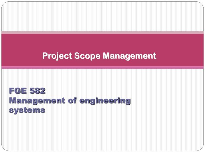 project scope management n.