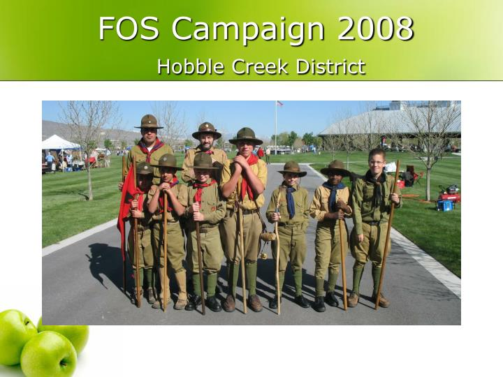 fos campaign 2008 hobble creek district n.