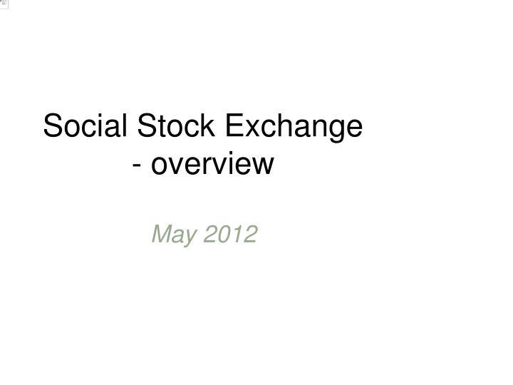 Social Stock Exchange