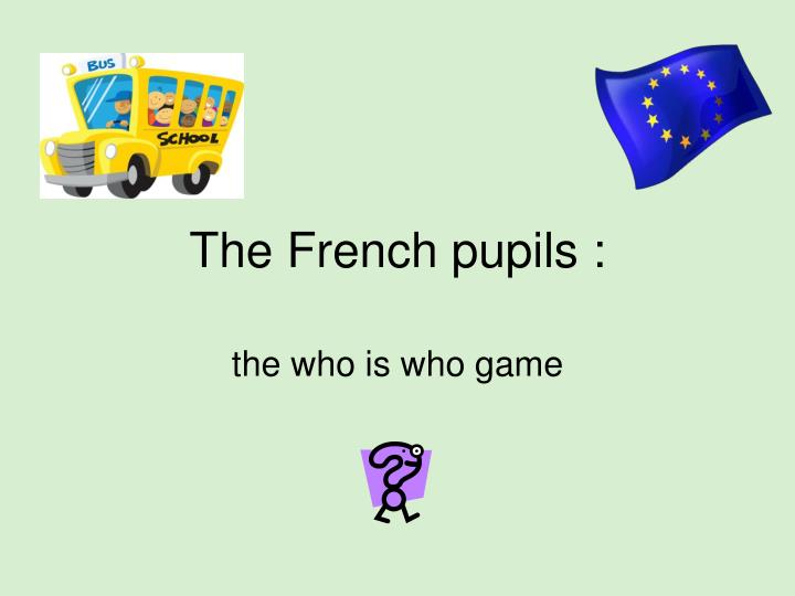 the french pupils n.