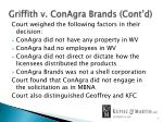 griffith v conagra brands cont d