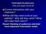 intended audiences one size does not fit all1
