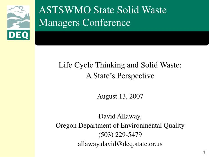 astswmo state solid waste managers conference n.