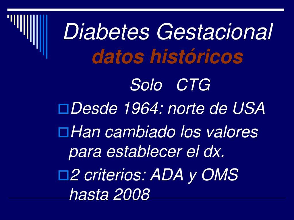 Criterios ada para diabetes gestacional